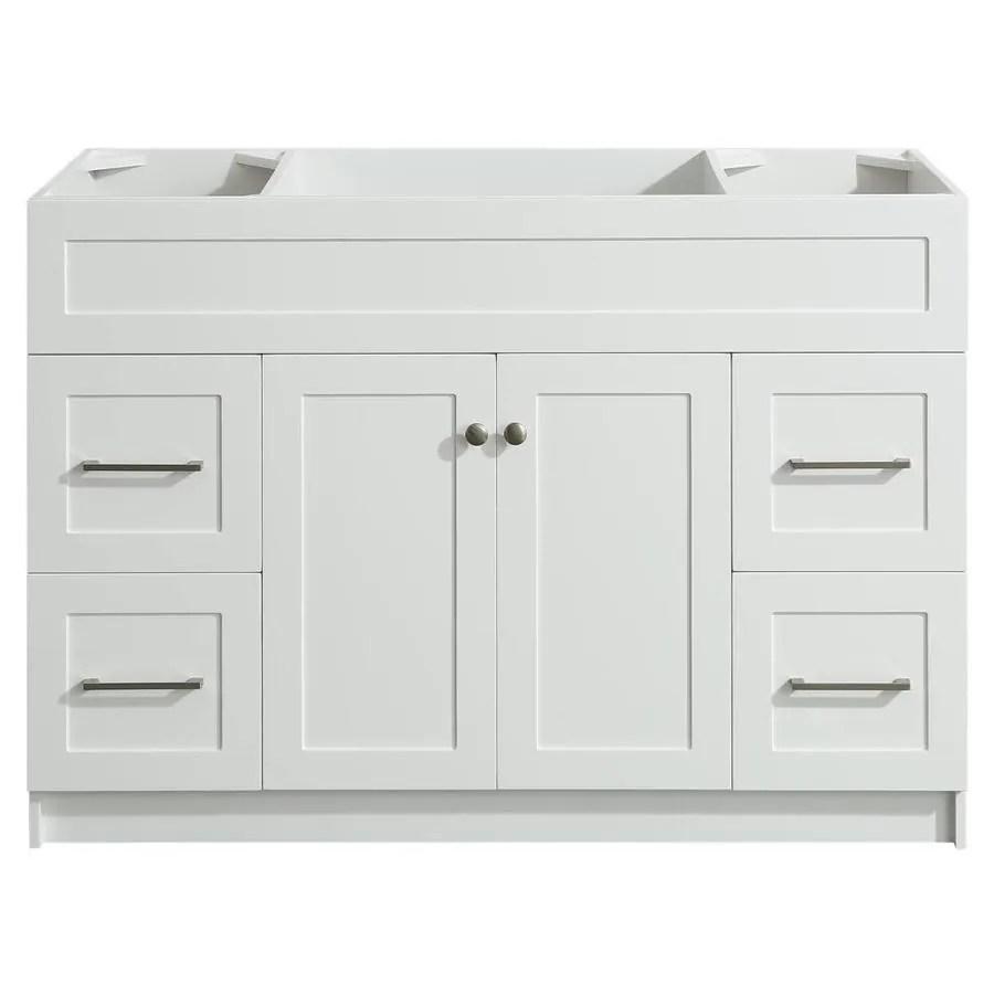 ariel hamlet 48 in white bathroom vanity cabinet lowes com