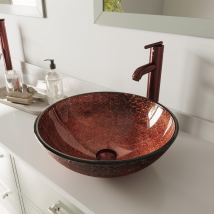 Vigo Copper Glass Vessel Bathroom Sink