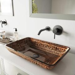 Lowes Sinks Kitchen Pendant Lighting Shop Vigo Vessel Bathroom Sets Brown And Amber Tempered ...