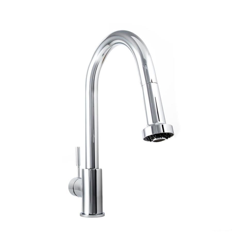 https www lowes com pd zline kitchen bath monet kitchen faucet chrome 1 handle deck mount high arc handle lever residential kitchen faucet 1001451876