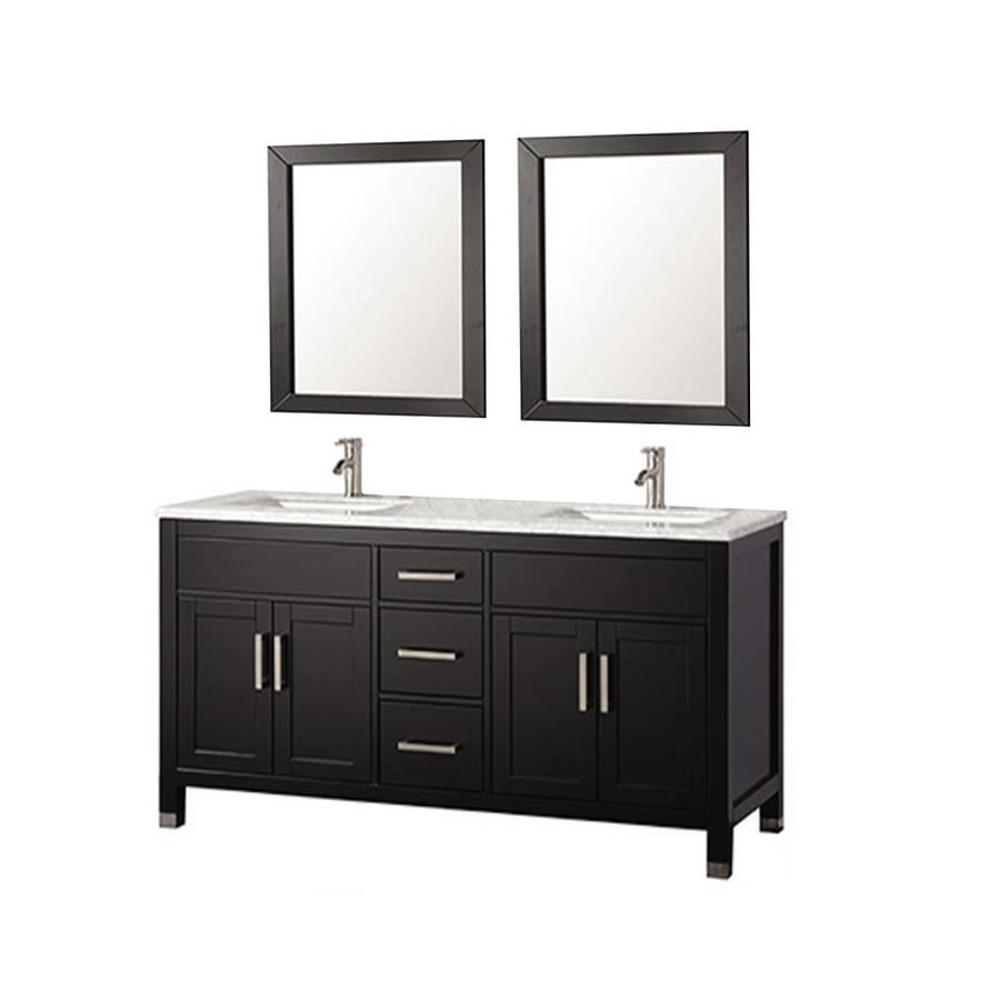 MTD Vanities 84in Espresso Double Sink Bathroom Vanity