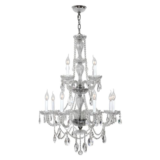 Worldwide Lighting Provence 28 0 In 12 Light Crystal Candle Chandelier