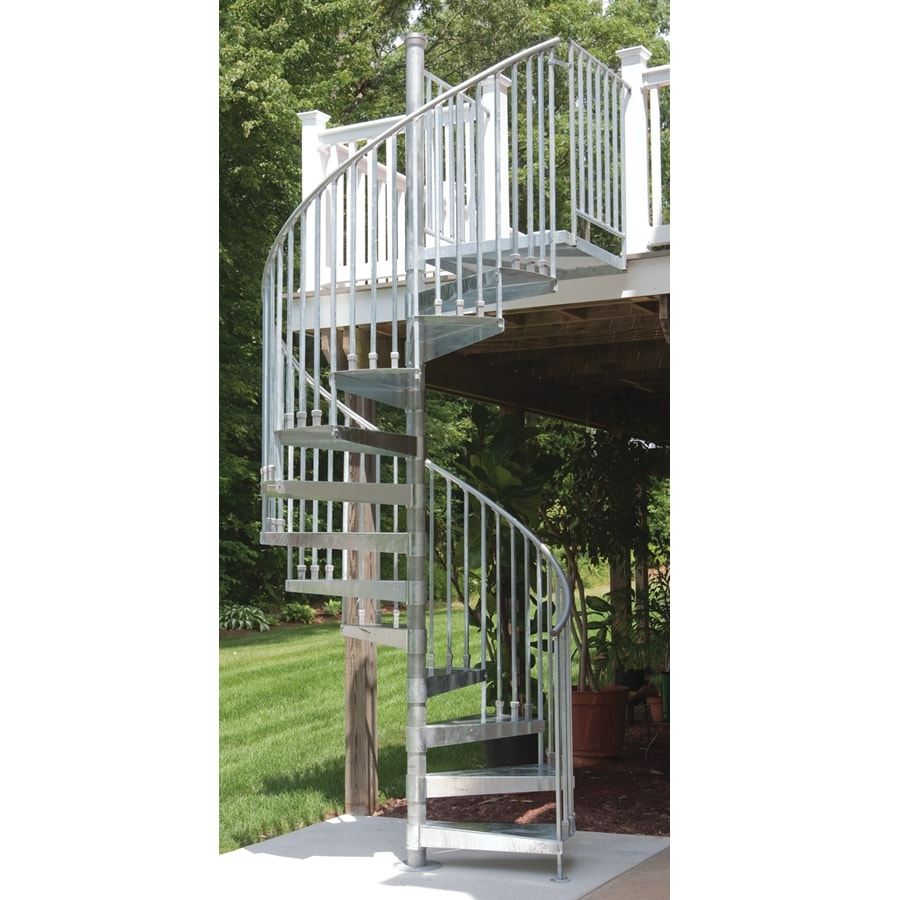 Spiral Interior Exterior Staircase Kits At Lowes Com | Exterior Metal Spiral Staircase | Interior | Outdoor | Free Standing | Custom Exterior | Model