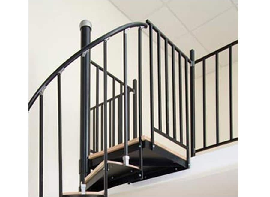 The Iron Shop Houston 1 75 Ft White Painted Stair Railing Kit In   Cast Iron Staircase Railing   Modern   Grill   Rod Iron   Floor   Interior