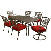 Hanover Traditions 7-piece Dining Set In Red With Two