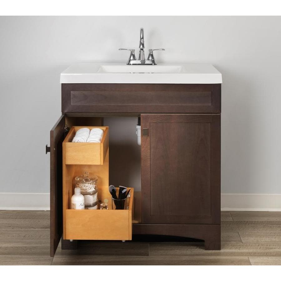 Style Selections Vanity Storage Natural Finish Drawer Organizer In The Bathroom Vanity Accessories Department At Lowes Com