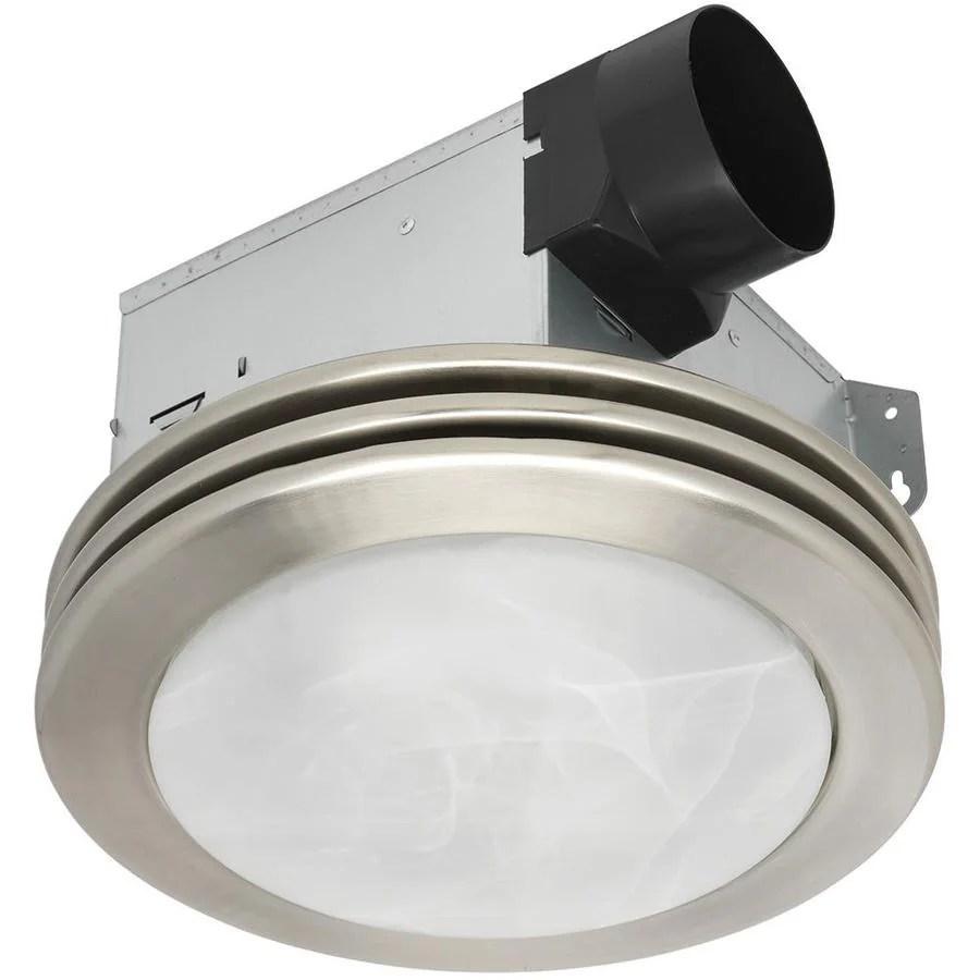 utilitech ventilation fan 2 sone 80 cfm brushed nickel
