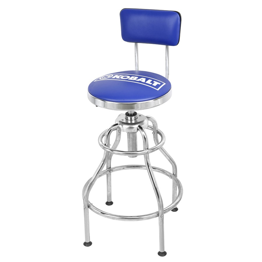 plastic lawn chairs lowes conference room with wheels shop kobalt adjustable hydraulic stool at lowes.com