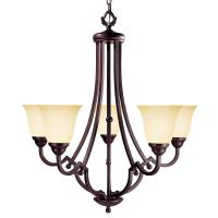 Shop Shandy 28.5-in 5-Light Slate Candle Chandelier at ...