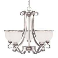 Shop Shandy 25-in 5-Light Pewter Candle Chandelier at ...