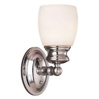 Shop Shandy 1-Light 4.5-in Polished chrome Vanity Light at ...