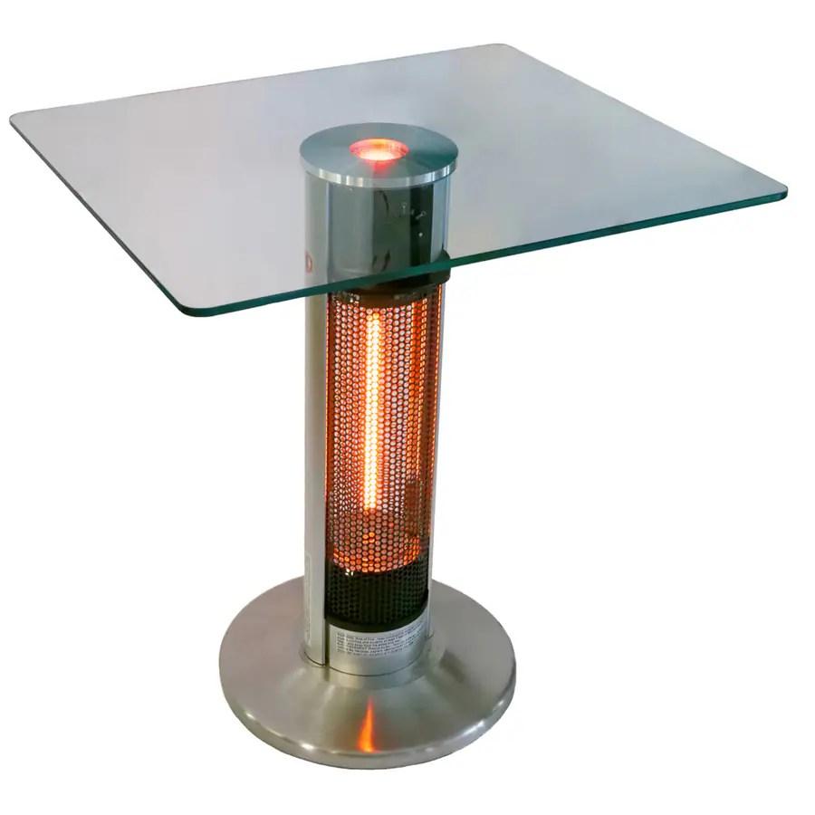 energ 5100 btu 110 volt silver black aluminum electric patio heater