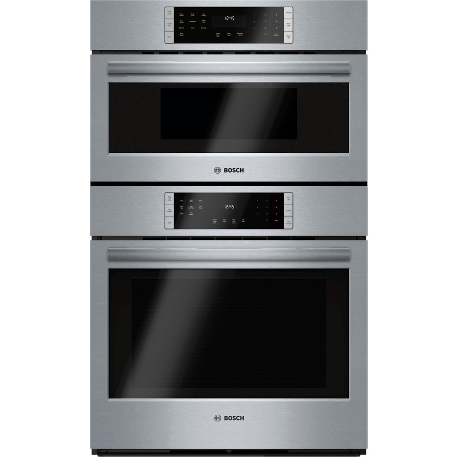 medium resolution of bosch self cleaning convection microwave wall oven combo stainless steel common 30 inch actual 29 75 in