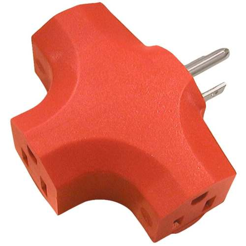 small resolution of 15 amp 3 wire grounding single to triple orange basic adapter