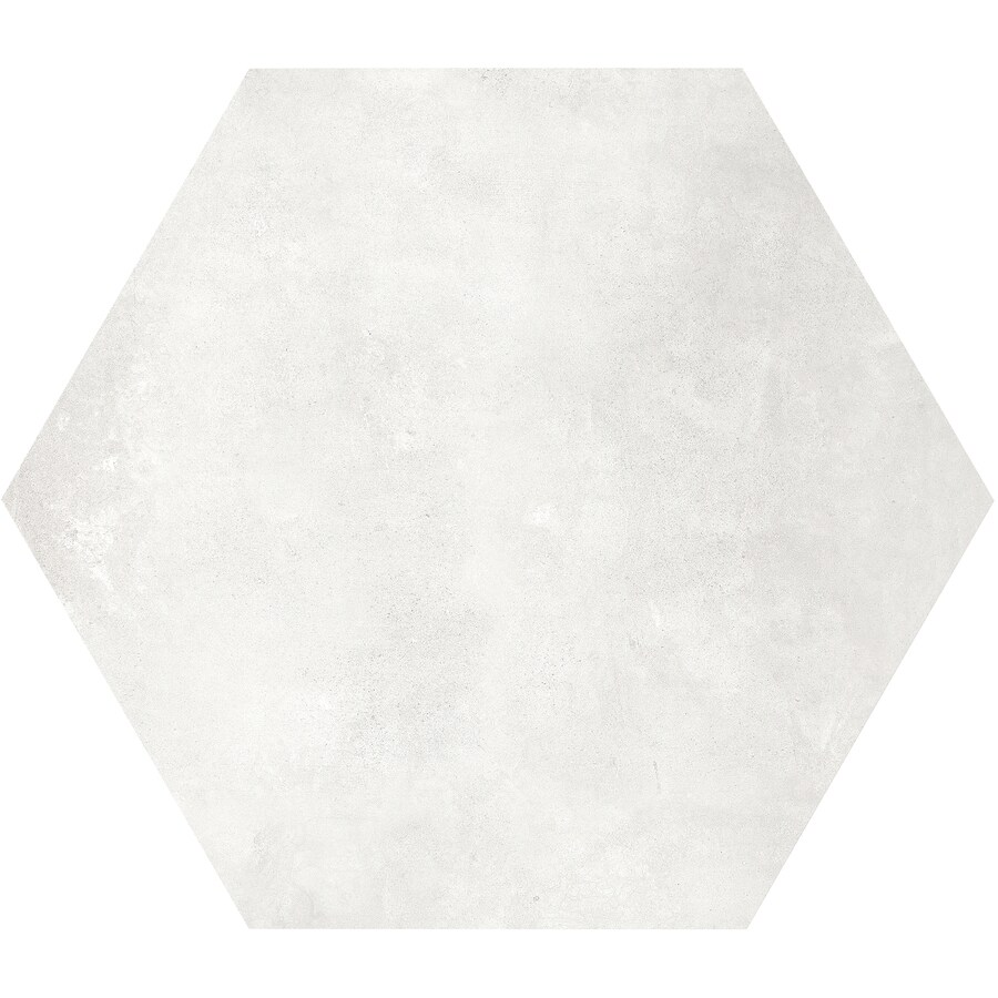 satori nouveau crema hexagon 7 in x 7 in matte porcelain encaustic floor and wall tile