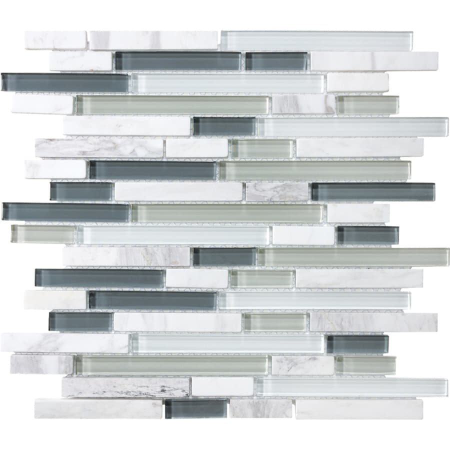 allen roth venatino 12 in x 12 in multi finish glass stone marble linear wall tile lowes com