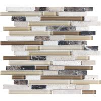 Shop Anatolia Tile Java Linear Mosaic Stone and Glass Wall ...