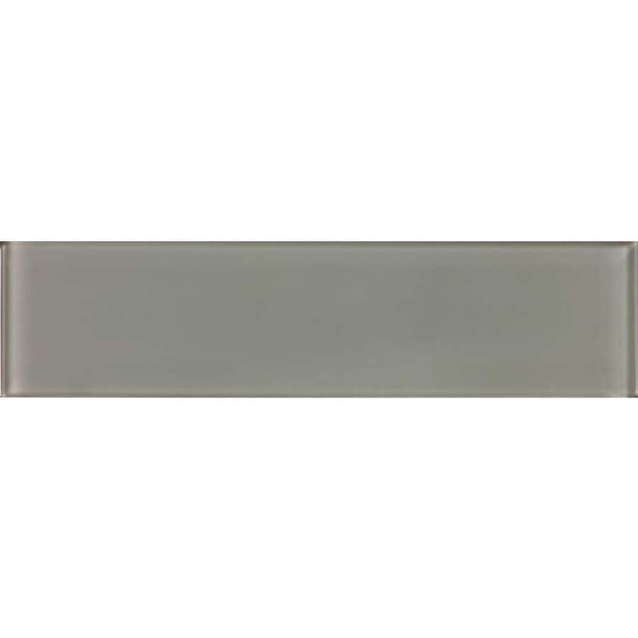 allen roth smoke 3 in x 12 in glossy glass subway wall tile lowes com