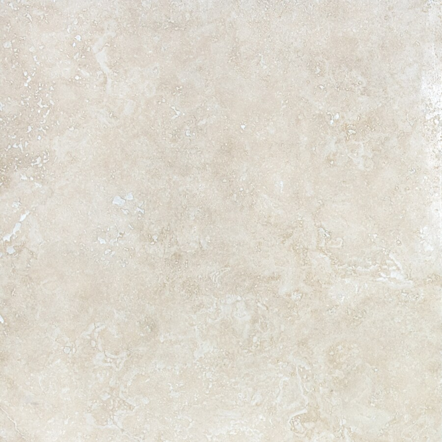 anatolia tile ivory 18 in x 18 in honed and filled natural stone travertine floor tile lowes com