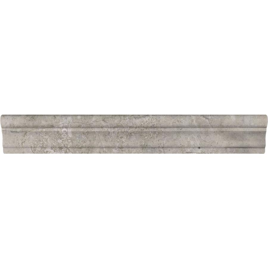 lowes chair rail tile royal rolling chairs atlantic city shop anatolia ritz natural stone marble (common: 2-in x 12-in; actual: 12 ...