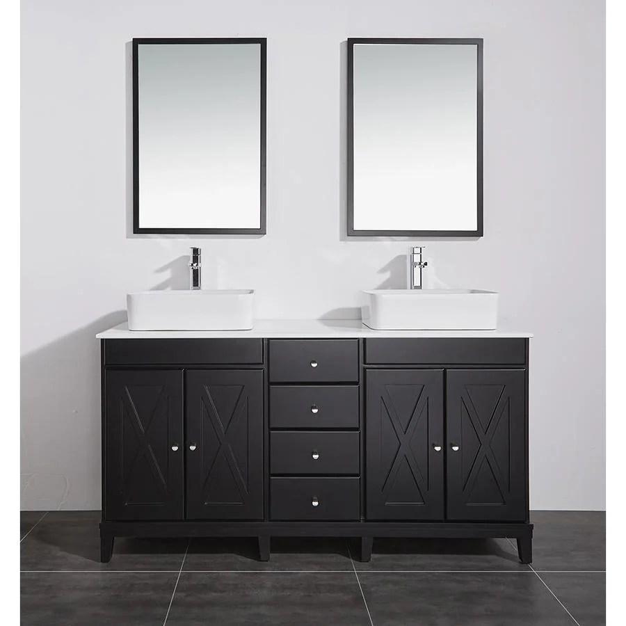 shop ove decors aspen dark espresso double vessel sink bathroom
