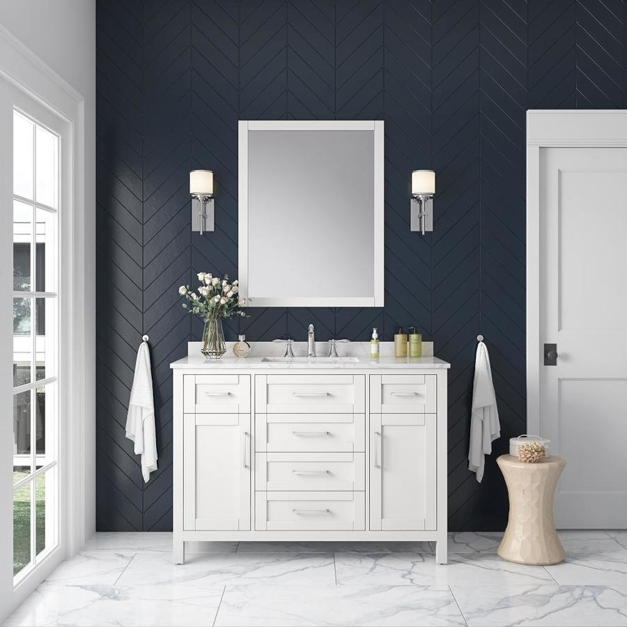 Shop OVE Decors Tahoe White Single Sink Vanity With White
