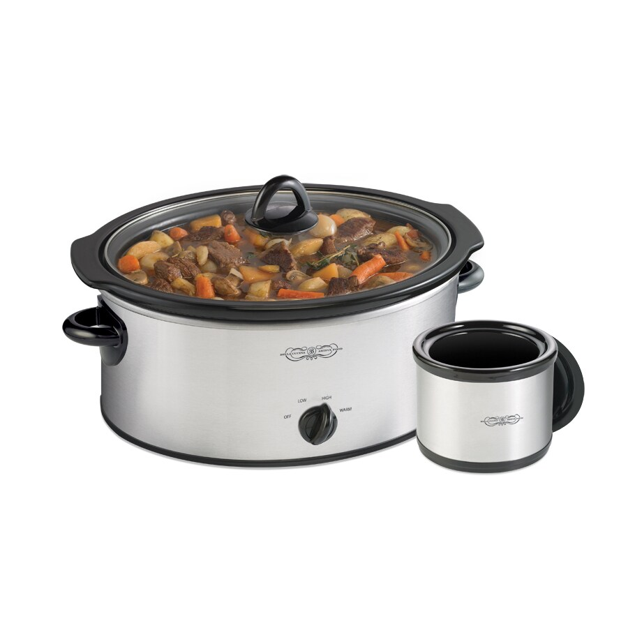 bella kitchen affordable islands cucina 6 quart slow cooker at lowes com