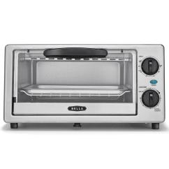 Bella Kitchen Nija 4 Slice Stainless Steel Toaster Oven With Auto Shut Off At
