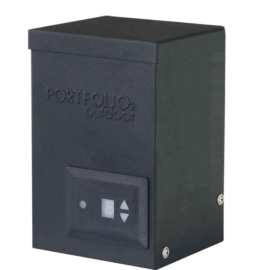 hight resolution of portfolio 200 watt 12 volt multi tap landscape lighting transformer with digital timer and dusk to dawn sensor