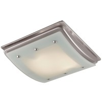 Shop Utilitech 1.5-Sone 100-CFM Brushed Nickel Bathroom ...