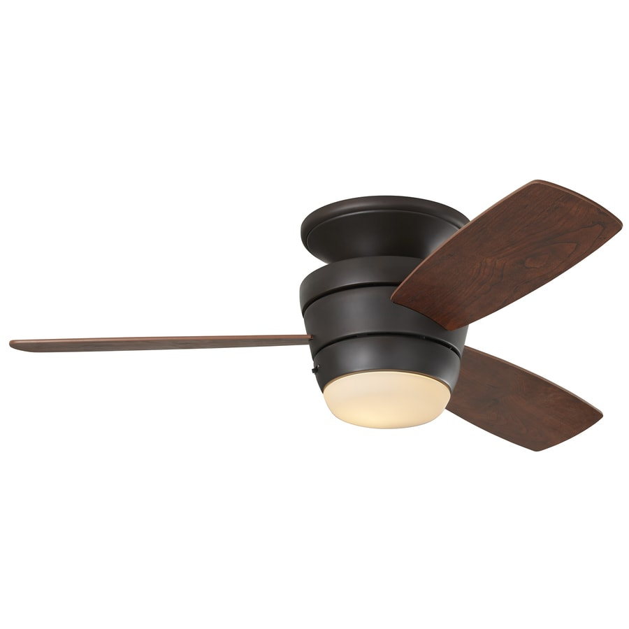 medium resolution of harbor breeze mazon 44 in bronze flush mount indoor ceiling fan with rh lowes com ceiling fan wiring diagram red wire ceiling fan installation