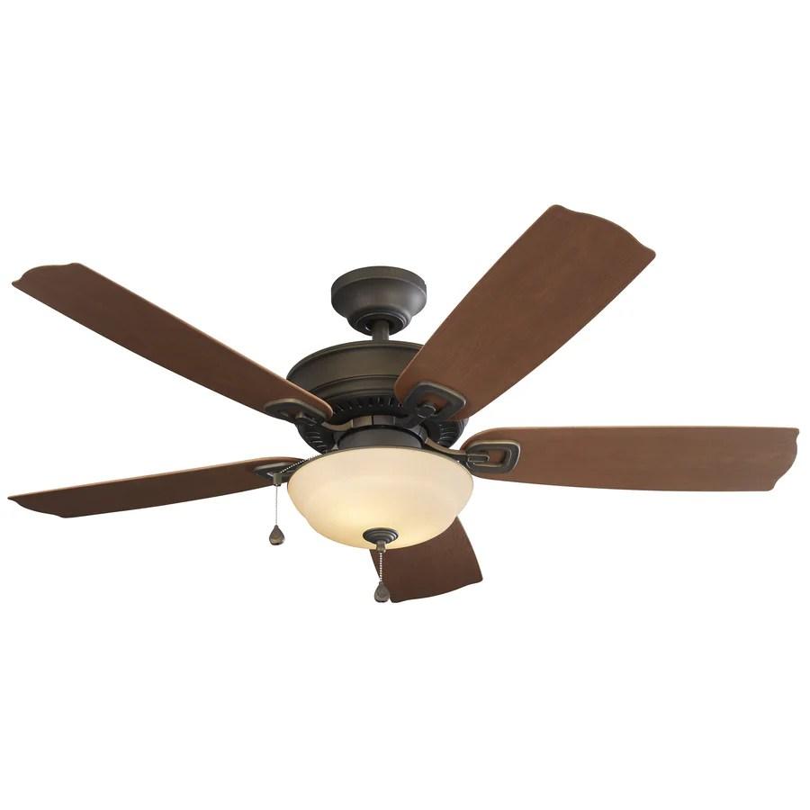 Harbor Breeze Echolake 52 In Oil Rubbed Bronze Indoor Outdoor Ceiling Fan With