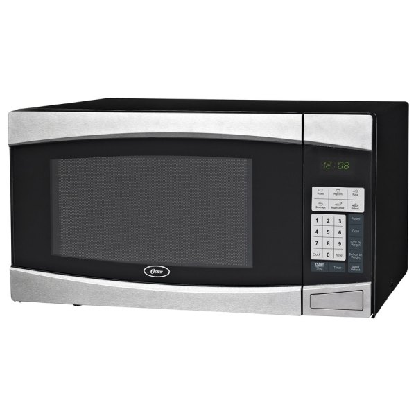 Oster 1.4-cu Ft 1000-watt Countertop Microwave Black