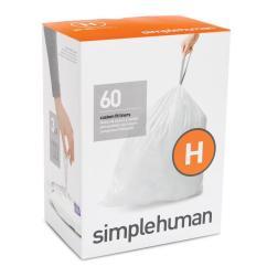 Kitchen Bags Art Prints Simplehuman Code H 60 Count 9 Gallon White Plastic Trash At