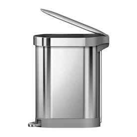 stainless steel kitchen trash can hanging lights in cans at lowes com simplehuman slim 45 liter brushed with lid