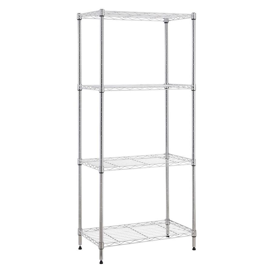 MZG 53-in H x 24-in W x 14-in D 4-Tier Steel NSF Certified