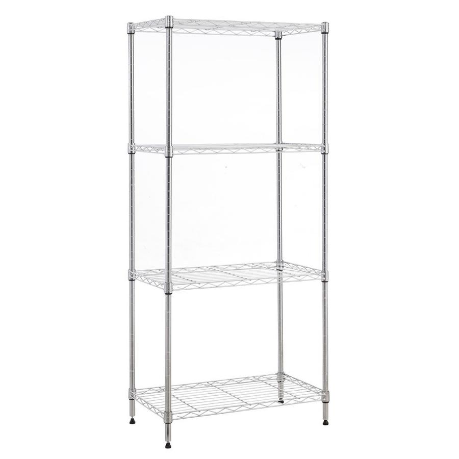 MZG 4-Tier Chrome Wire Shelving Unit 14x30x48in at Lowes.com