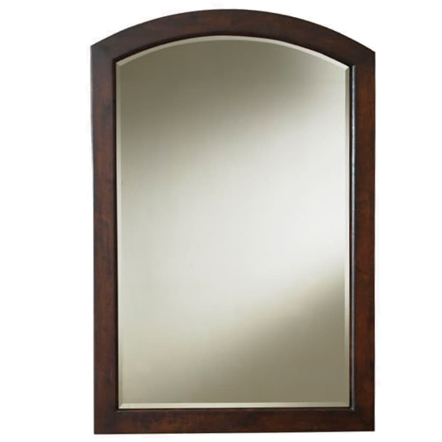 Shop Allen Roth Moravia 22 In Sable Arch Bathroom Mirror