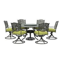 Sunjoy 7-piece Cast Aluminum Patio Dining Set