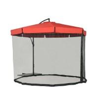 Shop Sunjoy Red Garden Patio Umbrella with Base (Common ...
