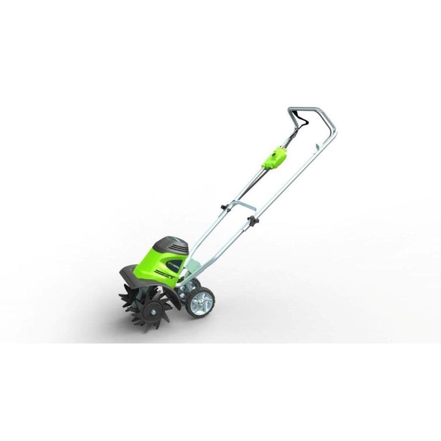 hight resolution of greenworks 8 amp 10 in corded electric cultivator