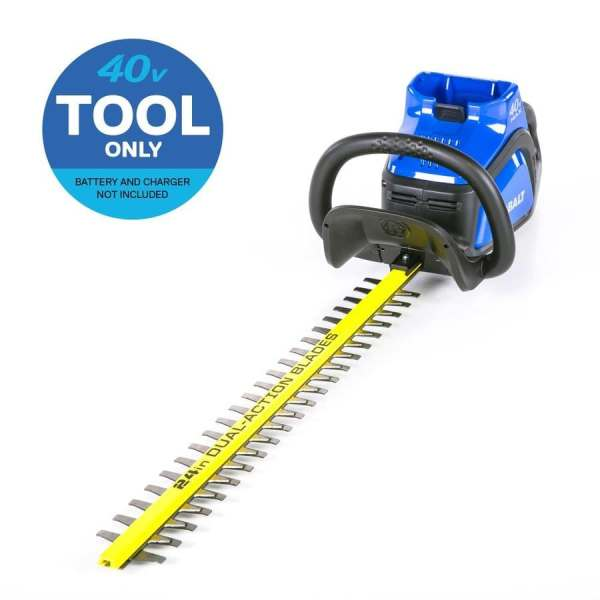 Kobalt 40-volt Max 24-in Dual Cordless Hedge Trimmer Bare Tool