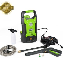 greenworks 1500 psi 1 2 gallon gpm cold water electric pressure washer [ 900 x 900 Pixel ]