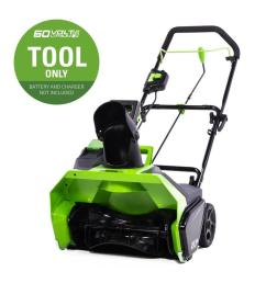 greenworks 60 volt 20 in single stage cordless electric snow blower battery [ 900 x 900 Pixel ]