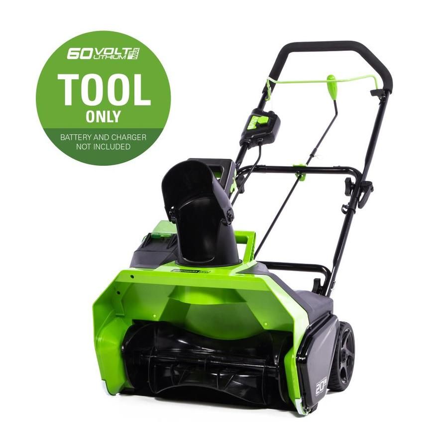 medium resolution of greenworks 60 volt 20 in single stage cordless electric snow blower battery