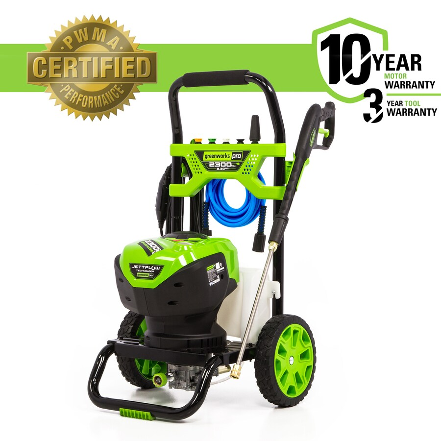 medium resolution of greenworks pro 2300 psi 2 3 gpm cold water electric pressure washer