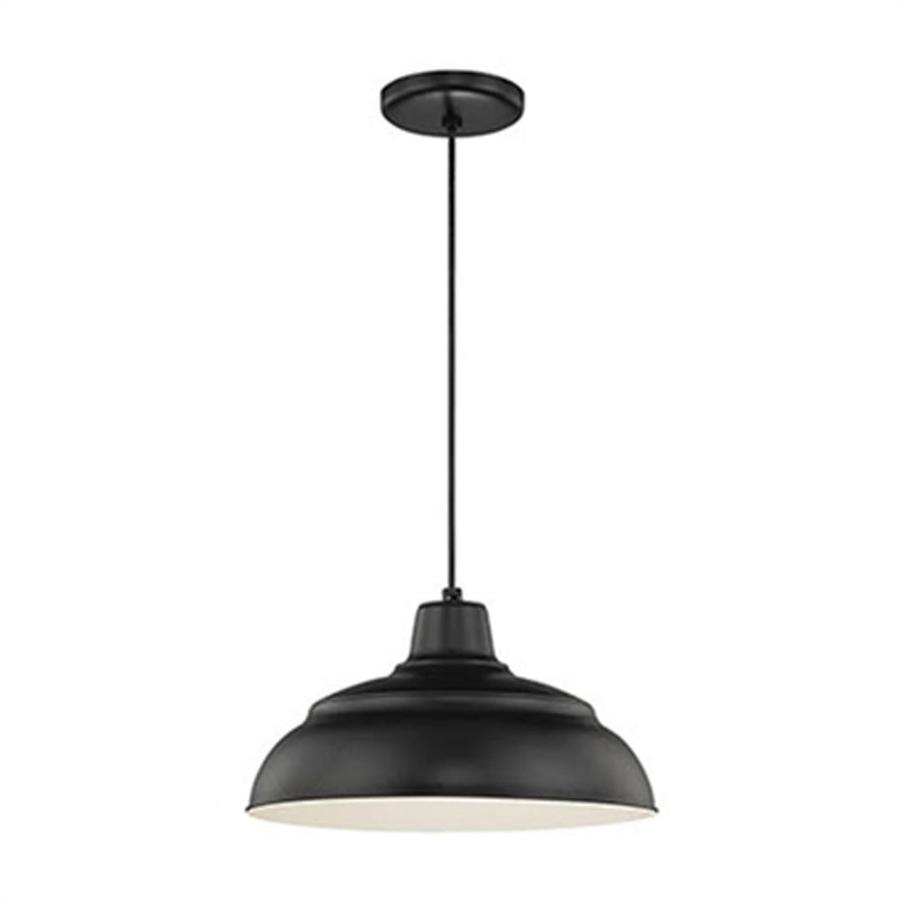 millennium lighting r series satin black industrial dome pendant light