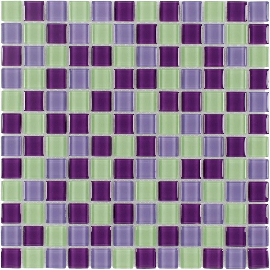 mosaic purple hope glass wall tile