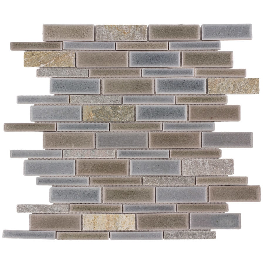 allen roth river bank 12 in x 12 in glazed porcelain slate linear wall tile lowes com