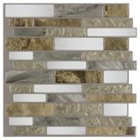Shop Peel&Stick Mosaics Mountain Terrain Linear Mosaic ...